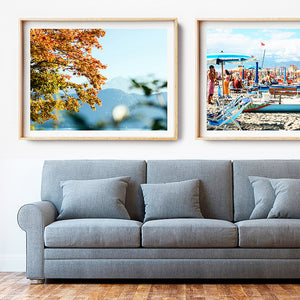 Beach print / Beach Photography Print / Framed Artwork Brisbane / Coastal Interior / Europe Travel Photography