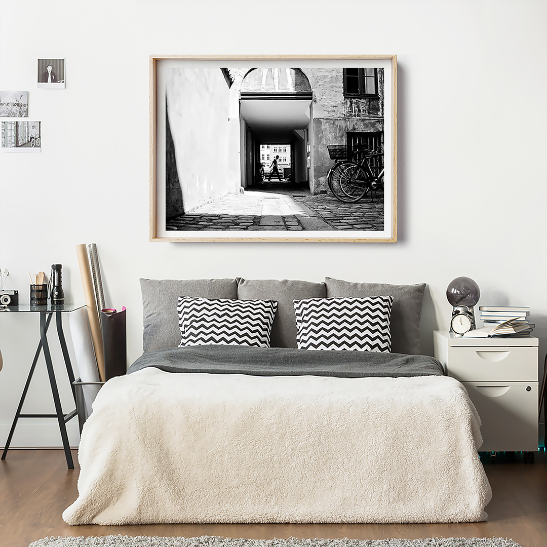 Black and White print / Copenhagen, Denmark / Monochrome Art Print