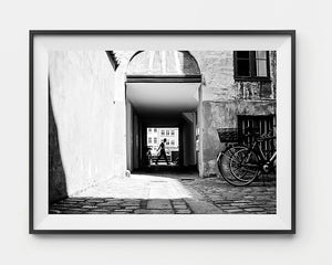 art for walls / black and white print / monochrome / Copenhagen travel photography