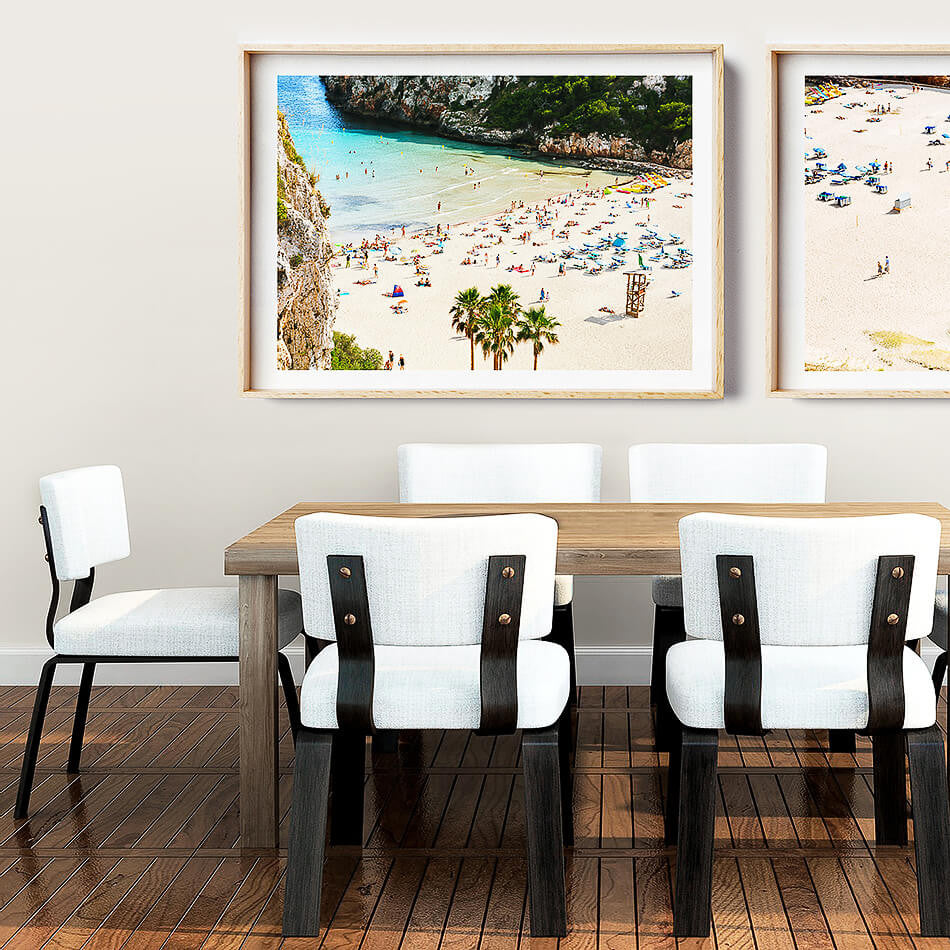 Beach Photographic Print / Framed Print Brisbane Photographer / Coastal Interior