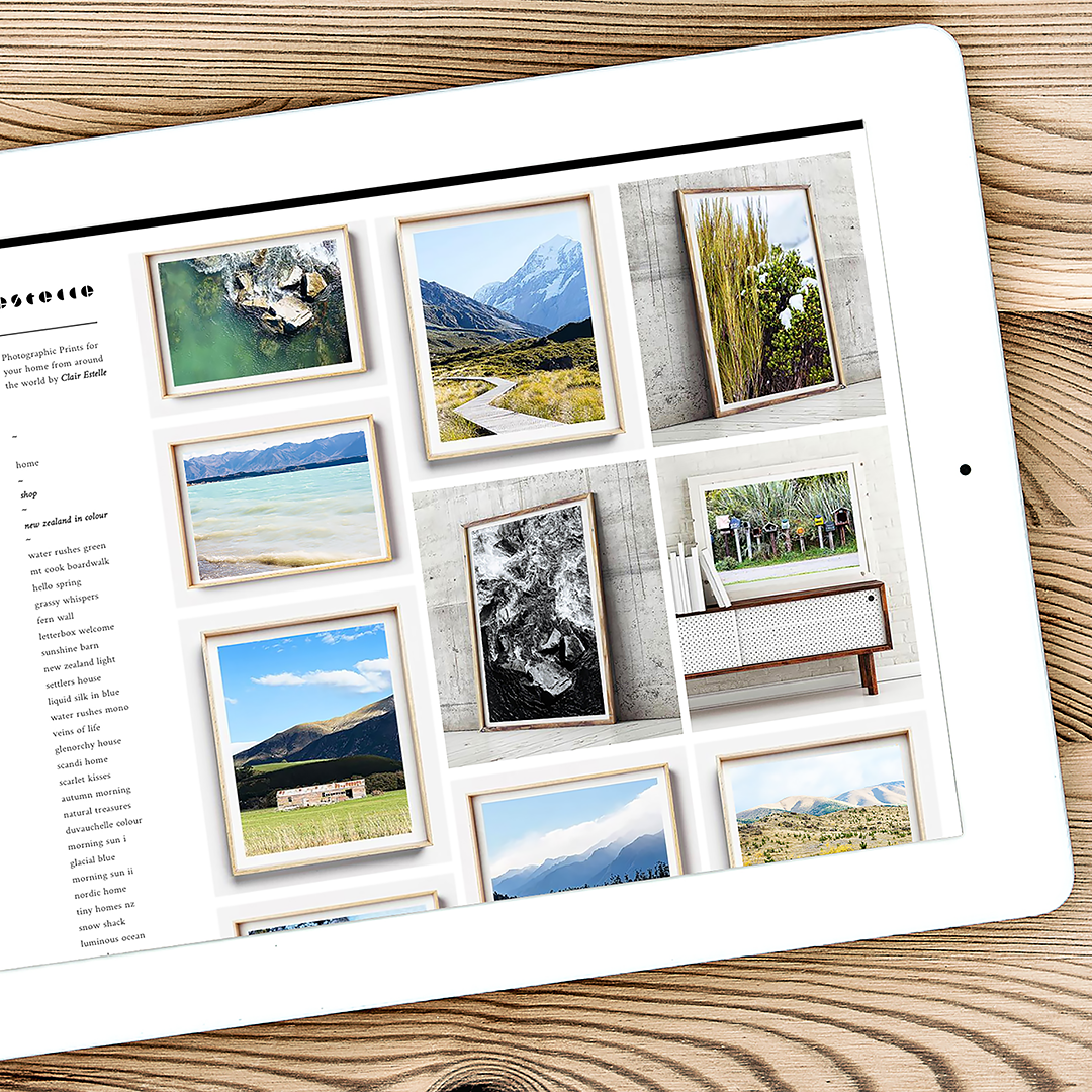 Coastal Print / New Zealand Photography / Website launch