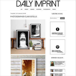 Black and White Photographic Art / Monochrome Interior / Daily Imprint Feature