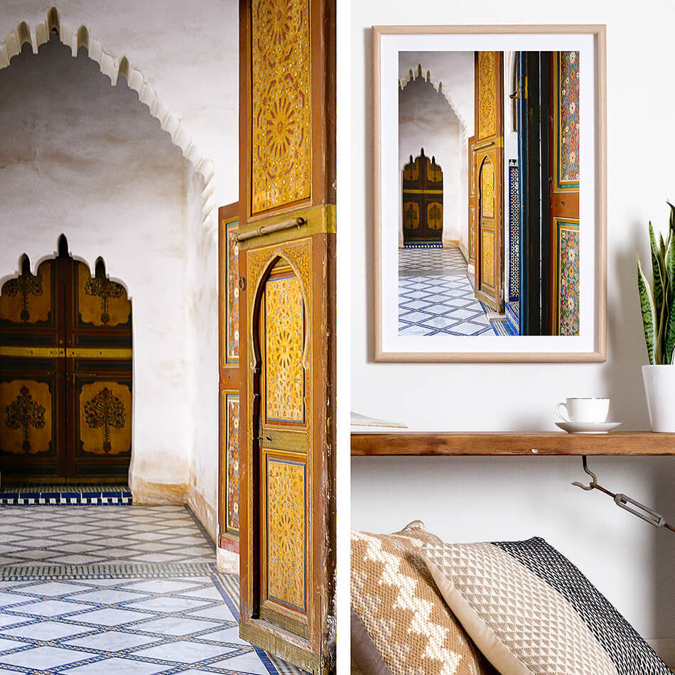 Moroccan Decor / Morocco Travel Photographic Prints / Bahia Palace