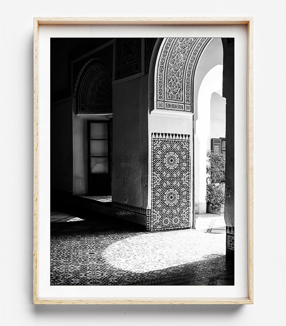 Moroccan Decor / Black and White Photography / Morocco Travel Photography