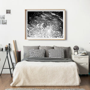 Black and White Home Interior / Monochrome Print / Beach Photography