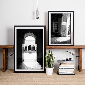 Black and White Prints / Monochrome Interior Artwork / Morocco Travel Photography