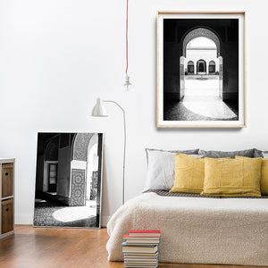 Moroccan Decor / Morocco Travel Photography / Black and White Print