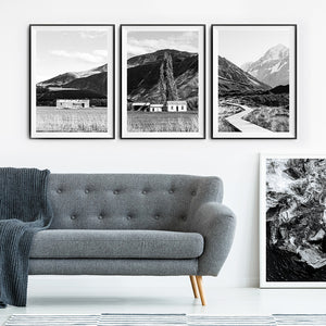 new zealand photography / black and white print