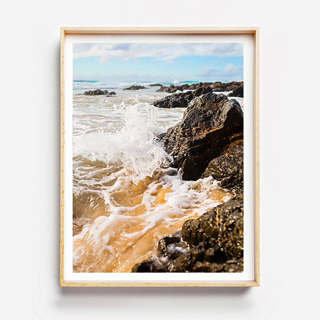 Beach Print, Photographic Beach Wall Art, Byron Bay Travel Photography
