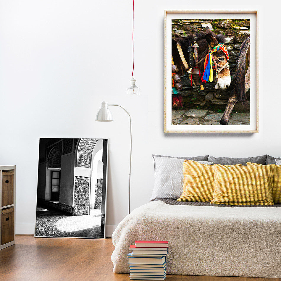 Photo Art Print / Moroccan Decor / Nepal Photographic Print / Framed Artwork