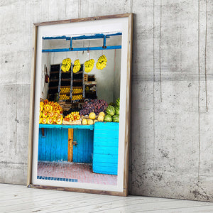colourful photographic art print / framed beach rustic print / morocco photography