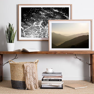 beach photography / coastal artwork / monochrome interior