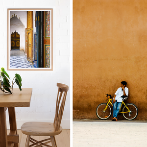 Moroccan Interior, Photography Print Marrakesh Morocco, Rustic Beach Print