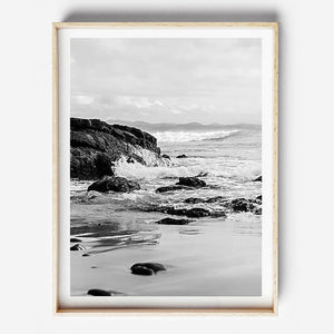 Beach Print, Byron Bay Photography, Black and White Print