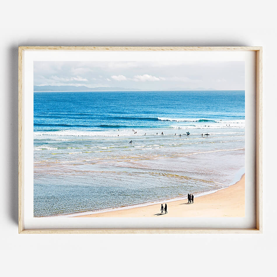 Photo Art Print / Beach Print / Beach Art / Coastal Interior Byron Bay