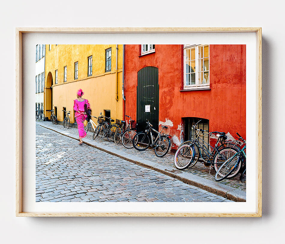Wall Art / Copenhagen Travel Photography / Vibrant Photo Print / Street Photo Print