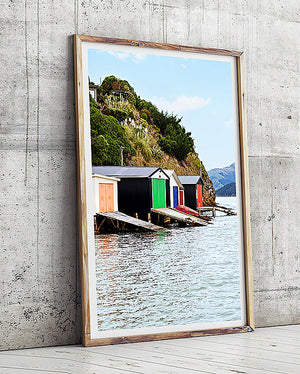 Duvauchelle boat shed new zealand south island colourful boat shed near queenstown