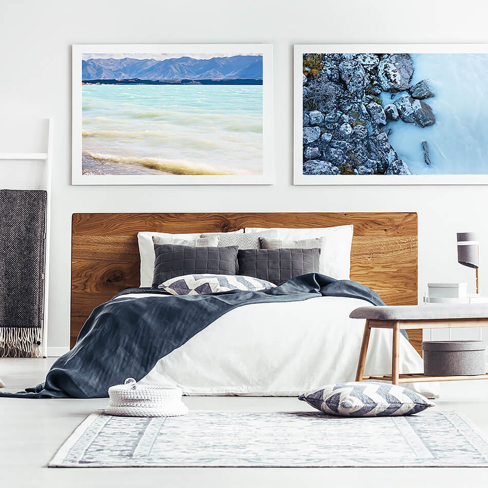 beach print for coastal wall art new zealand lake tekapo new zealand south island coastal home natural interior