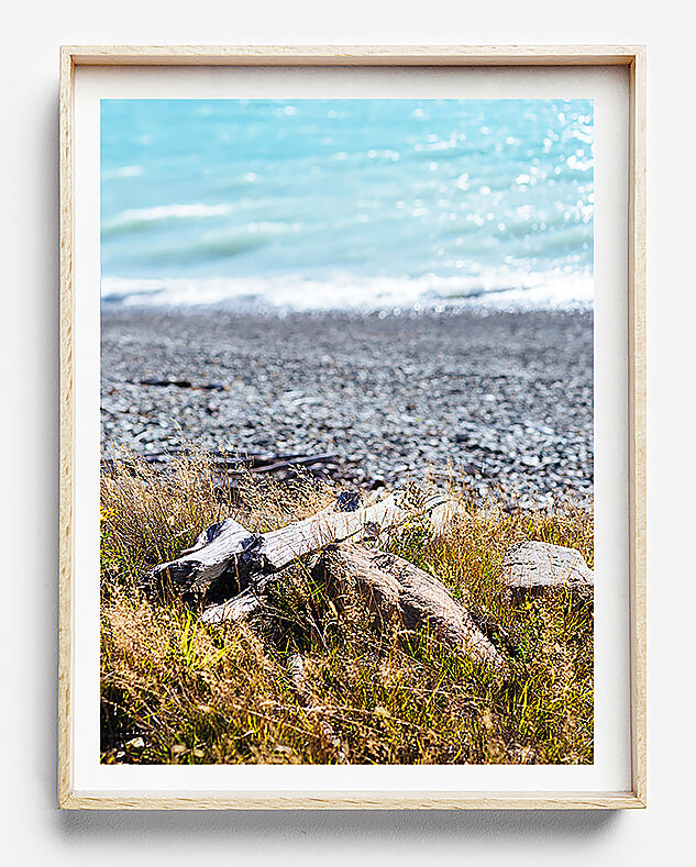 beach print coastal print new zealand lake tekapo