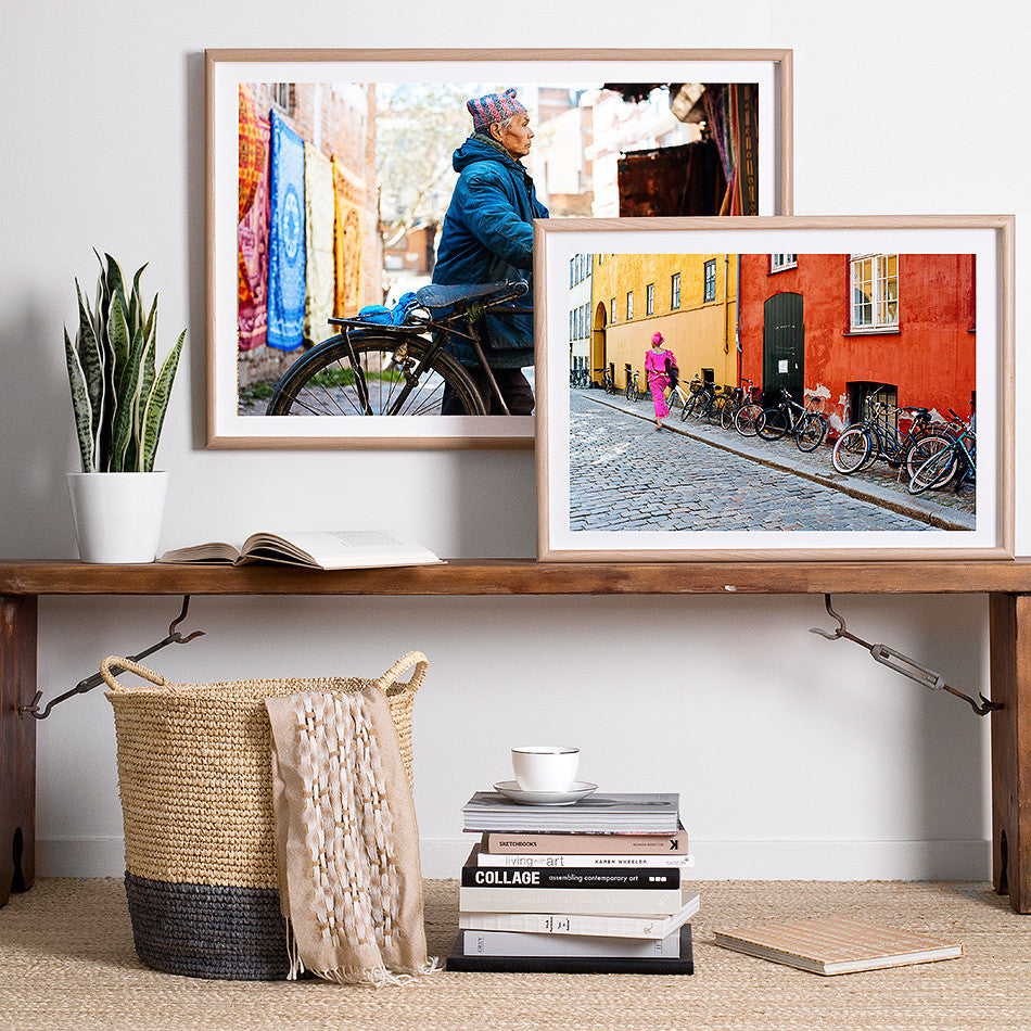 africa street photography framed print for wall colourful artwork