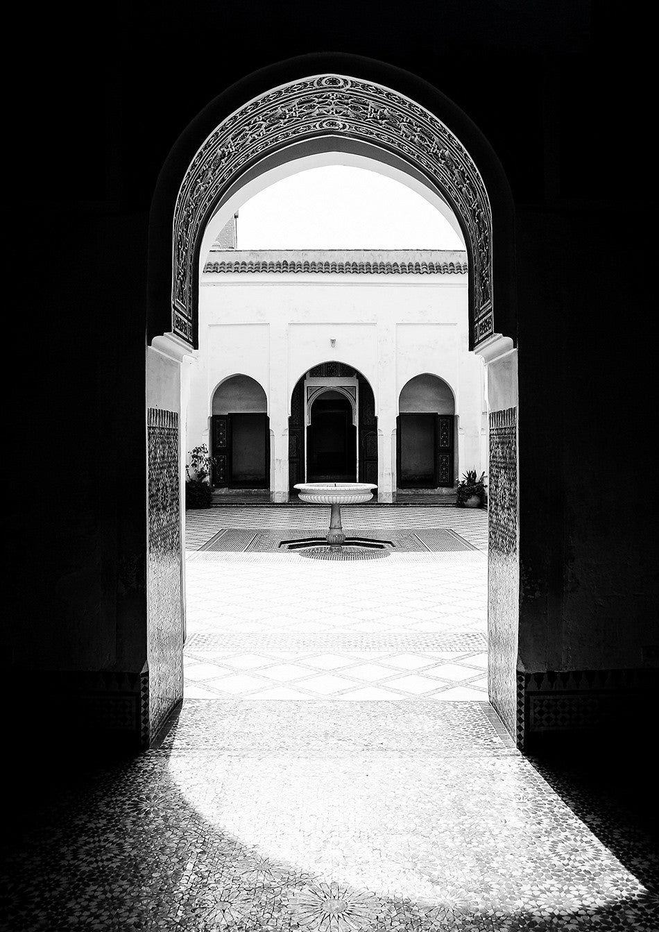 photographic artwork fine art print of Bahia Palace Marrakesh Morocco interior design limited edition print creative wedding photographer