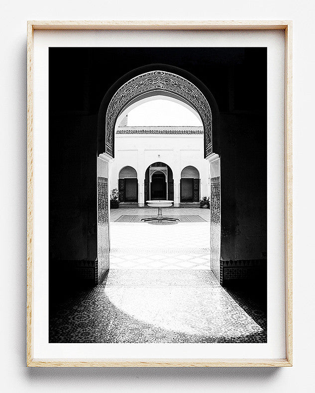 Bahia Palace limited edition fine art photography print was created in Marrakesh Morocco artwork to purchase online for the home interior design black and white photographic art prints framed prints brisbane photo wall art prints brisbane