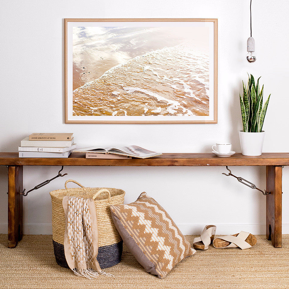 beach framed print coastal home wares beach interior natural toned homewares ocean photography print nature photography freedom furniture