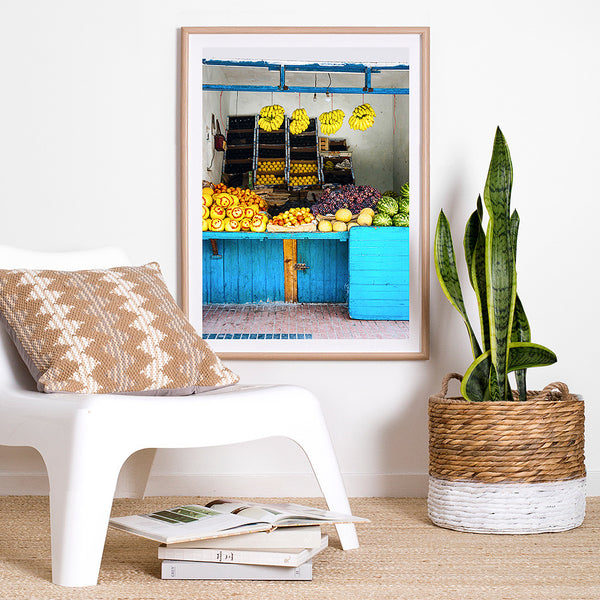 Beach House Decor Items: Fruit Stall, Essaouira / Photo Art