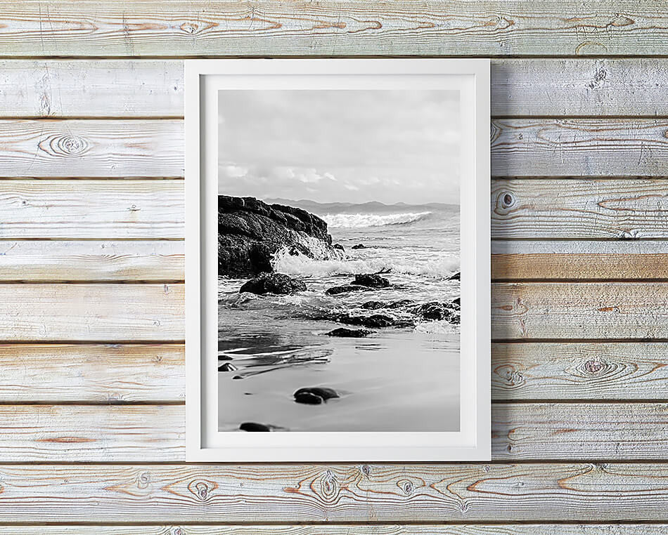 byron bay photography black and white interior byron bay photography art print byron bay brisbane photographer beach print black and white photography byron bay beach framed art monochrone interior art wategos beach byron bay photographic art brisbane beach print brisbane beach art for walls brisbane