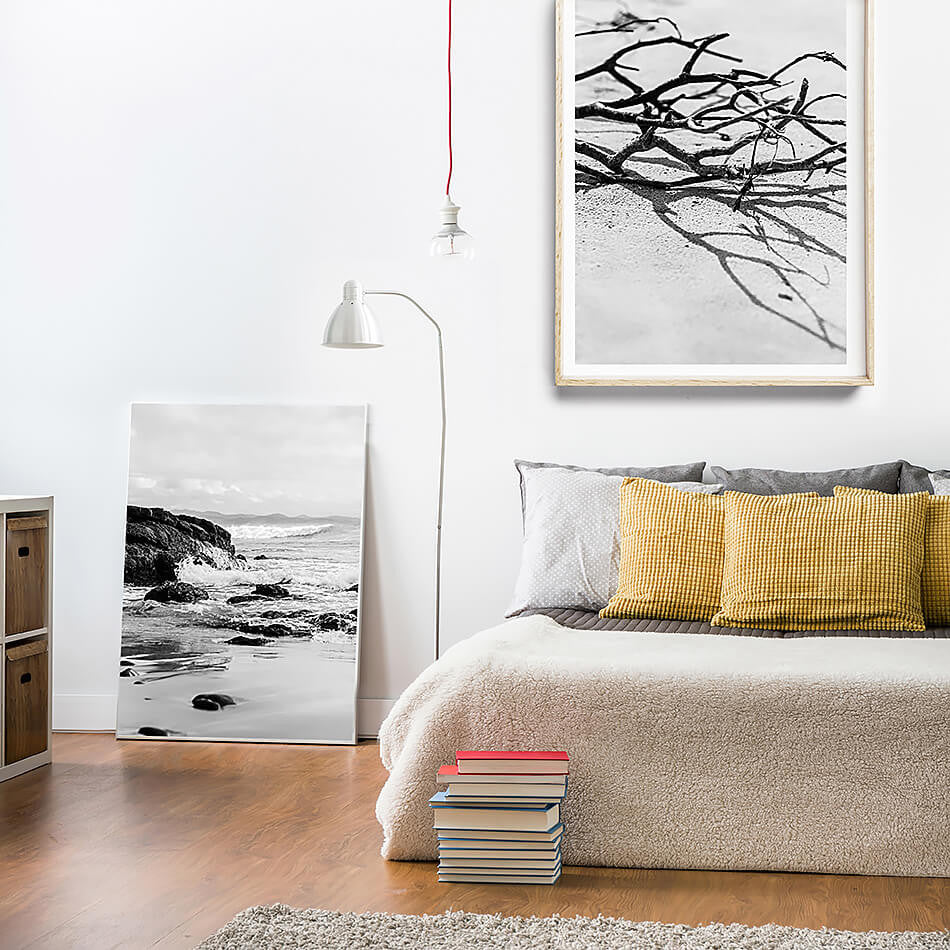 coastal interior black and white art coastal home byron bay photography beach photography black and white art