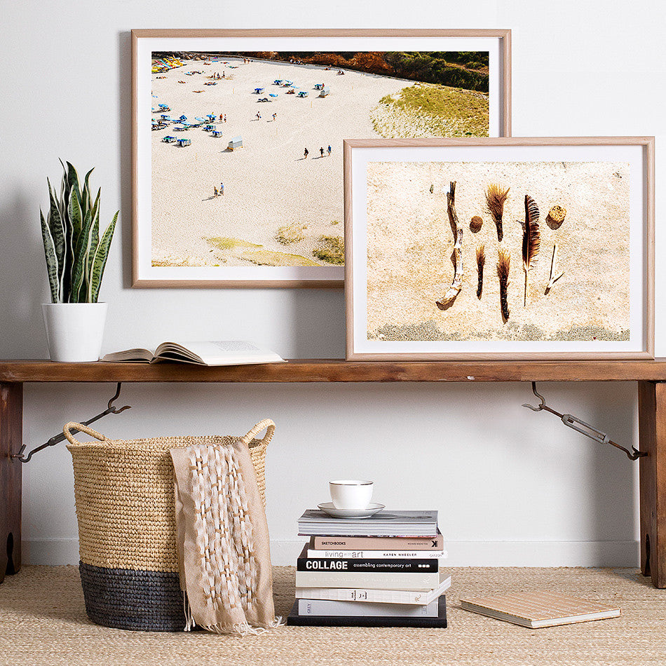 coastal homewares beach homewards beach photography photo print australia interiors rustic beach photo byron bay framed print natural tones