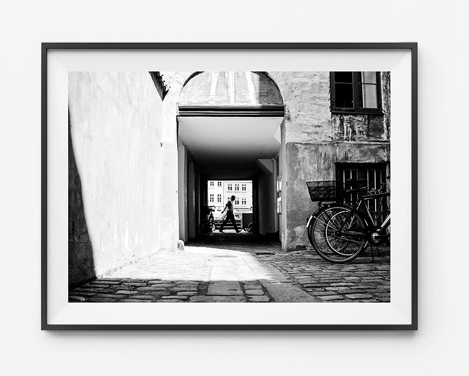 Photo art for wall fine art photographic print for home interior ikea ribba frame print travel photography of streets of Copenhagen photography at Copenhagen Denmark taken by a brisbane photographer australian print photographic print photographic print shop brisbane framed art prints brisbane black and white photographic art prints photographic prints for the home monochrome art prints