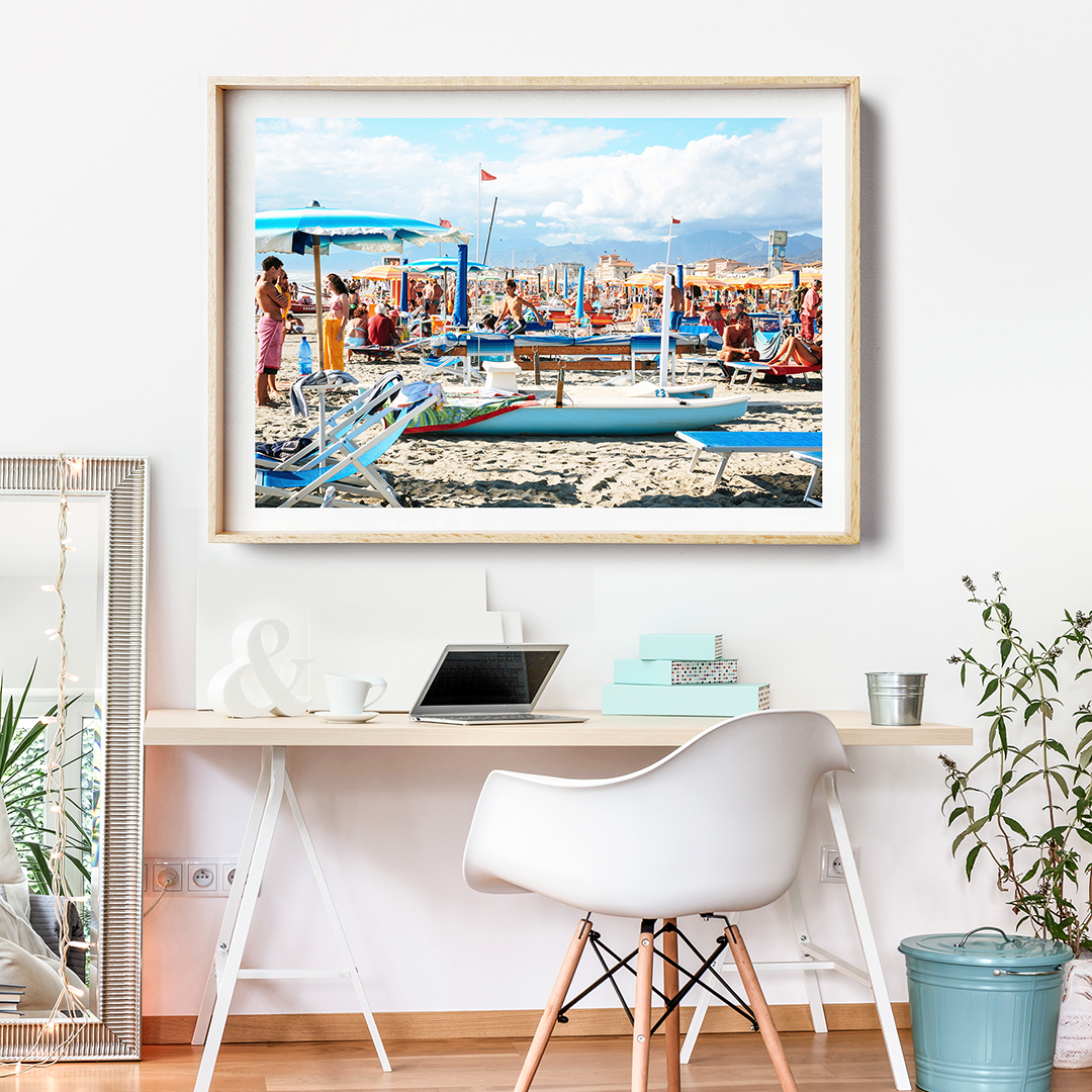 beach photography print italy beach print framed beach print