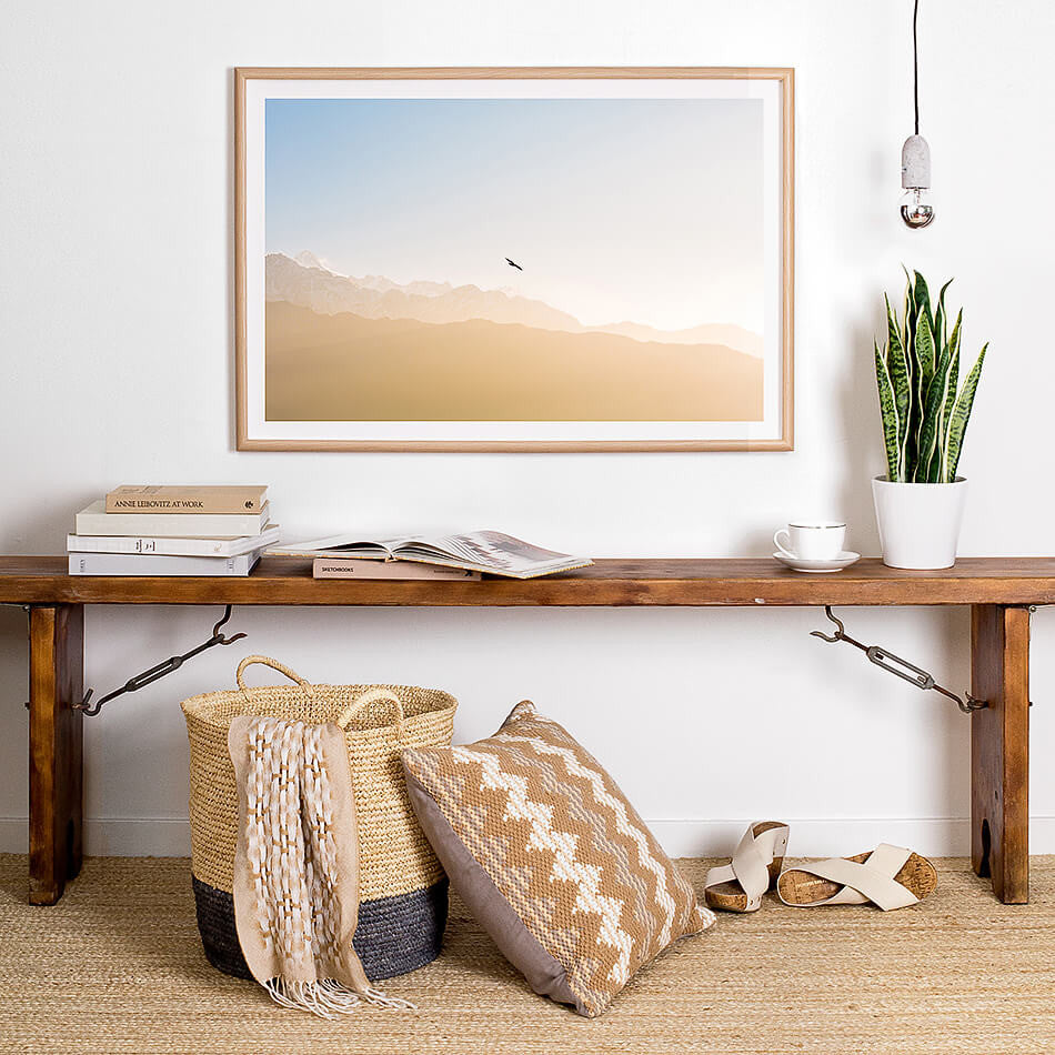 framed natural toned artwork print for wall coastal decor beach interior homewares