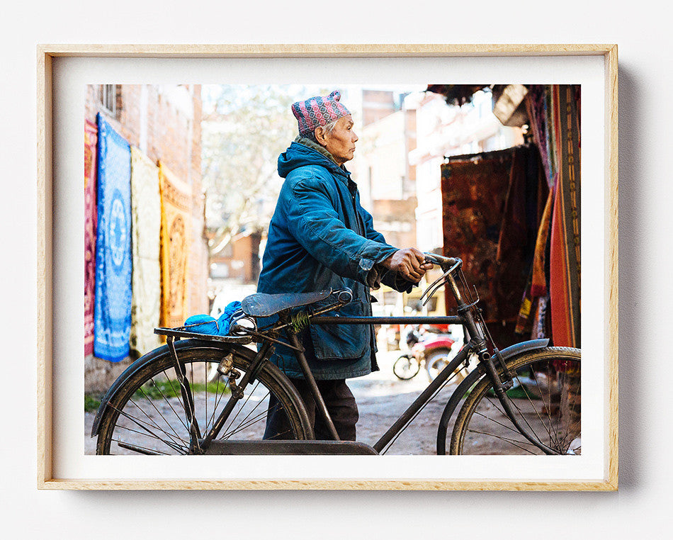 Photo art for wall fine art photographic print for home interior ikea ribba frame print travel photography of street of Thamel Nepal photography at Thamel Kathmandu Nepal taken by a brisbane photographer australian print photographic print photographic print shop brisbane framed art prints brisbane photographic prints for the home art for walls brisbane