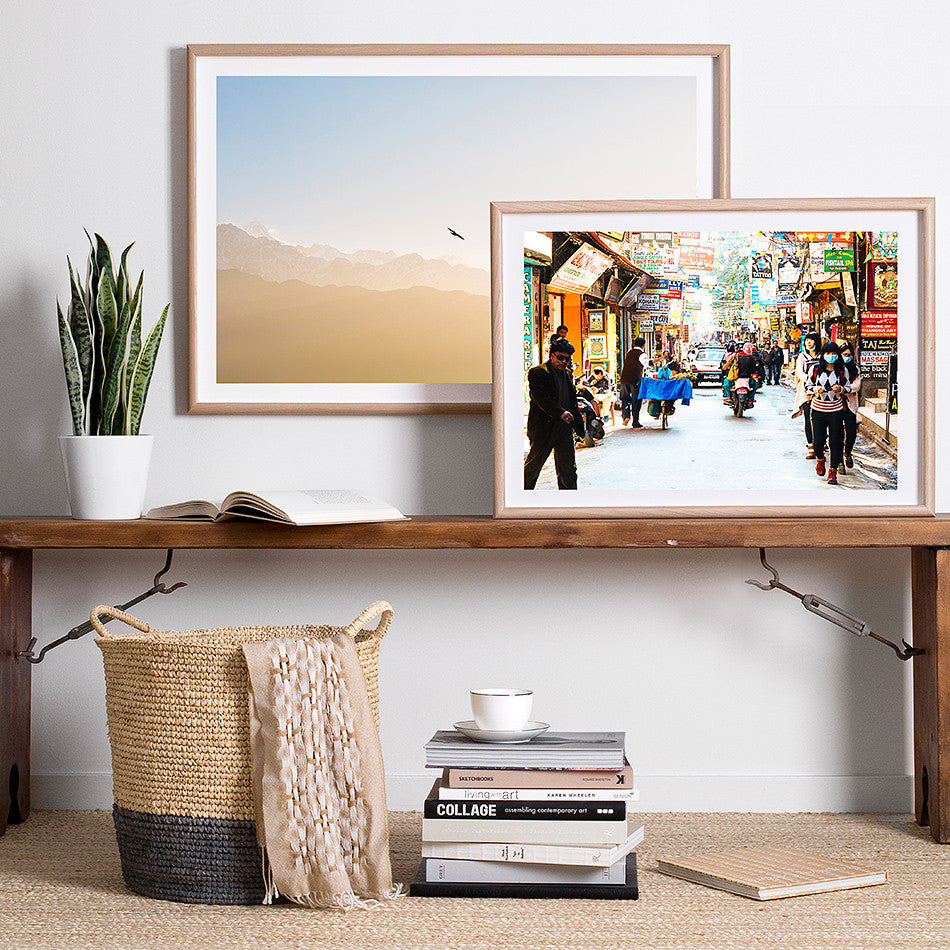 kathmandu street photography framed print for wall nepalese artwork nepal photo print thamel market photography