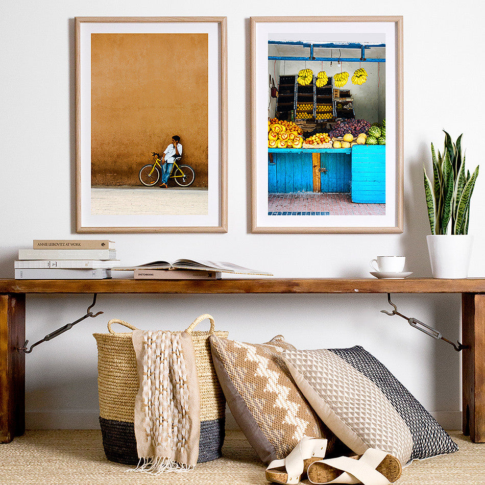 moroccan home wares rustic artwork marrakesh market photography photo print framed photographic print