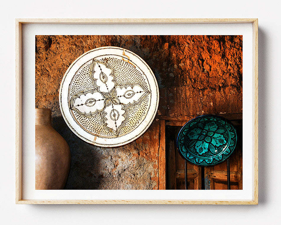 Photo art for wall fine art photographic print for home interior ikea ribba frame print travel photography of moroccan handcrafted ceramic pottery photography artwork print in Atlas Mountains marrakech morocco taken by a brisbane photographer australian printphotographic print shop brisbane photographic prints for the home decor wall art framed art prints brisbane