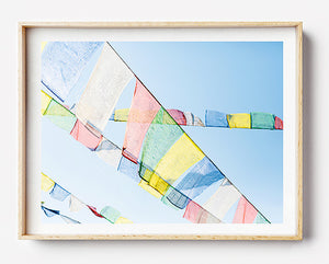 photo print prayer flags of nepal tibetan prayer flags art print prayer flags for the home hiking in nepal everest village limited edition fine art photography print was created in kathmandu pokhara nepal artwork to purchase online for the home interior travel photographer photographic print photographic print photographic print shop brisbane home decor wall art photographic prints for the home framed art prints brisbane