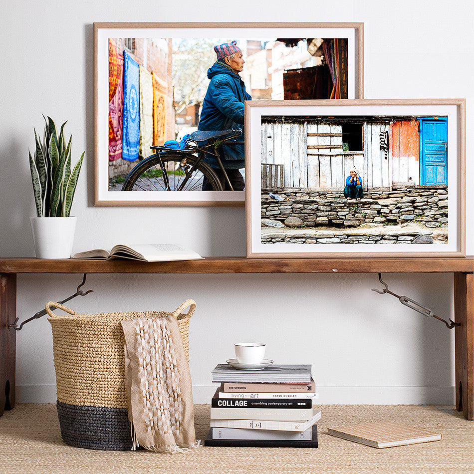 framed nepal photography photo print for wall kathmandu street photography home wares artwork