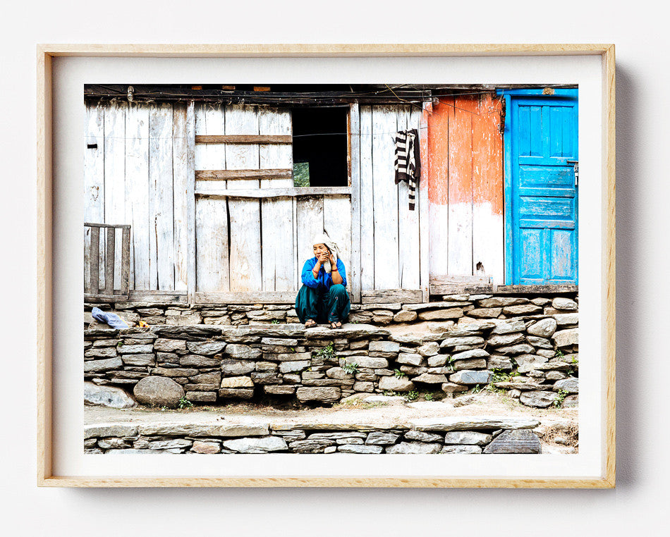 Photo art for wall fine art photographic print for home interior ikea ribba frame print travel photography of hiking in nepal everest village artwork print in kathmandu pokhara nepal taken by a brisbane photographer australian print photographic print photographic print photographic print shop brisbane home decor wall art photographic prints for the home framed art prints brisbane