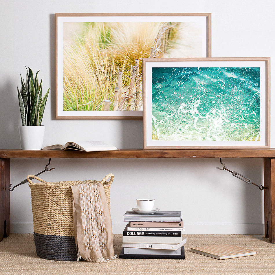 ocean beach artwork print coastal home design interior styling beach print framed artwork