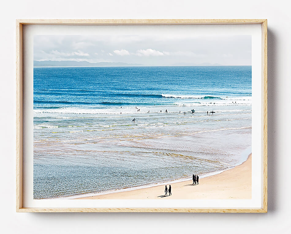 photographic beach print  photography byron bay the pass byron bay wategos beach coastal art beach print coastal print coastal home interior beach interior beach