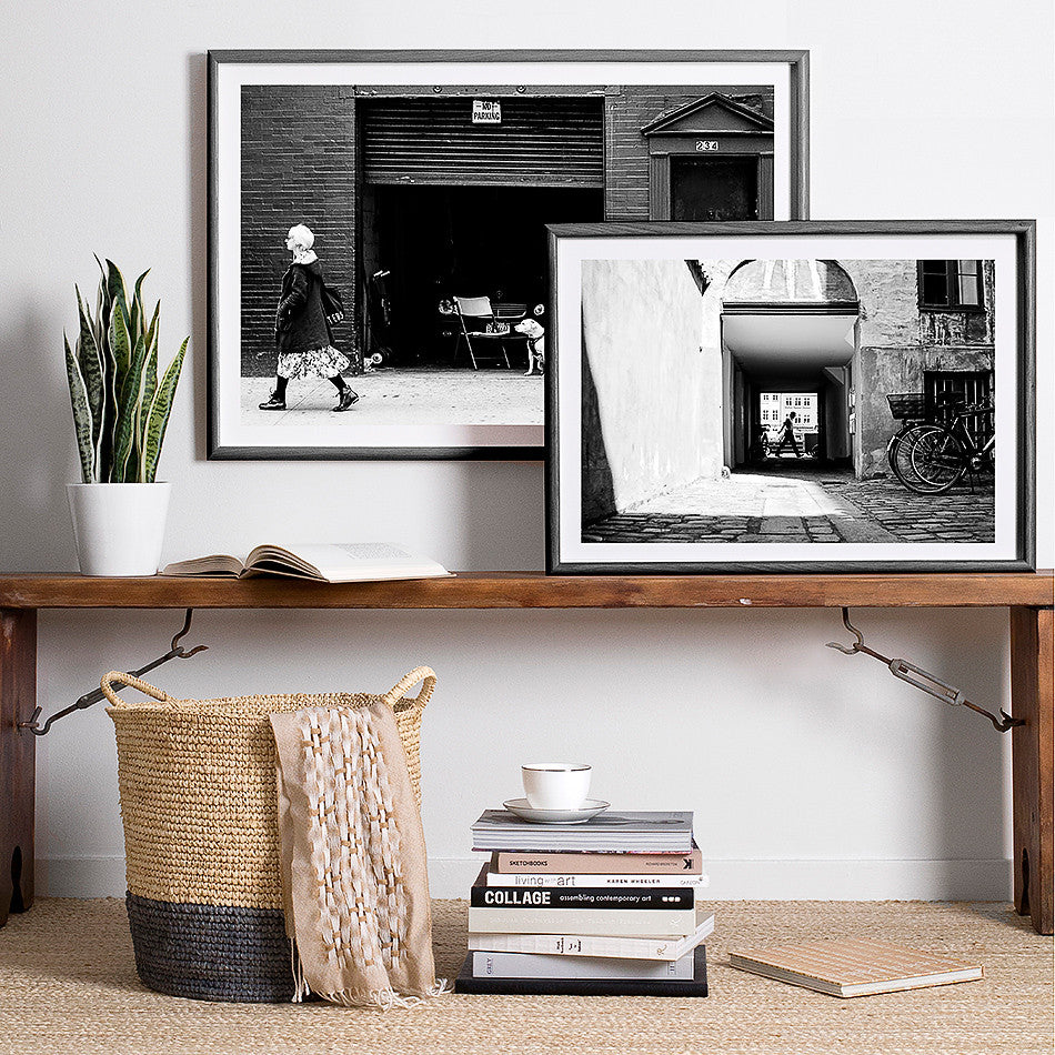 framed copenhagen denmark photography photo print artwork for wall black and white interior artwork