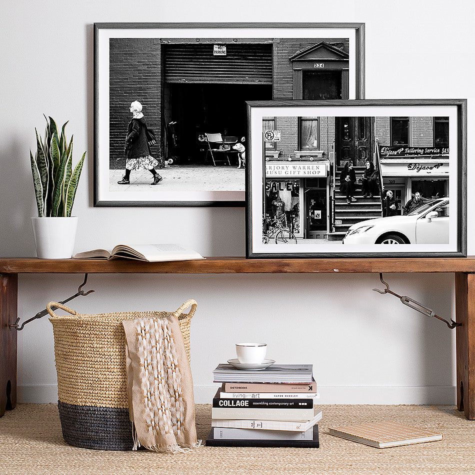 new york street photography manhattan framed photo print black and white interior
