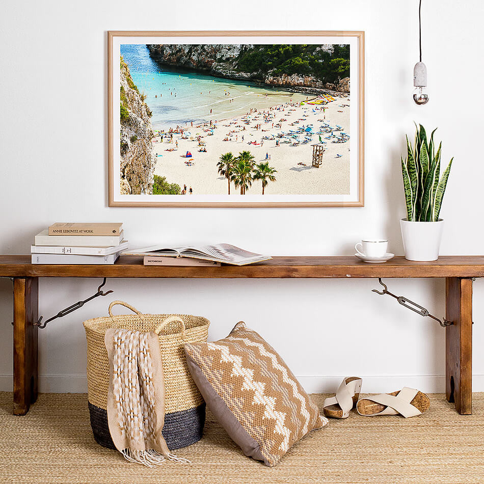 photographic print of the beach spain mediterranean coastal interior beach art