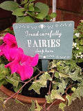 Wooden fairies sleep here sign - Home Bee