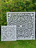 Large white carved panel