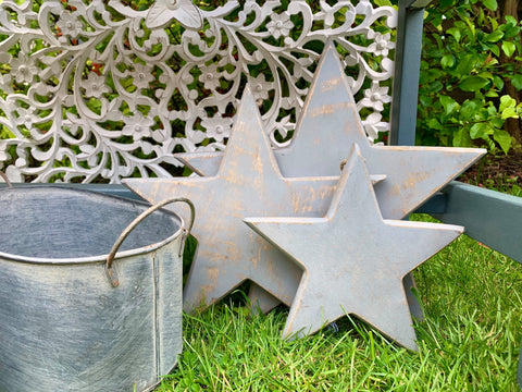 Vintage set of hanging stars