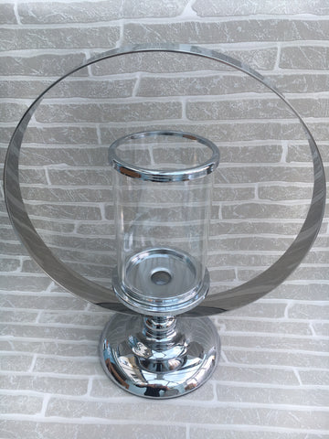 Glass and metal candle holder - Home Bee